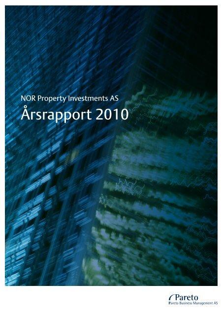 Årsrapport 2010 - Pareto Project Finance