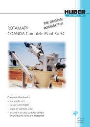 ROTAMAT® COANDA Complete Plant Ro 5C - Huber Technology