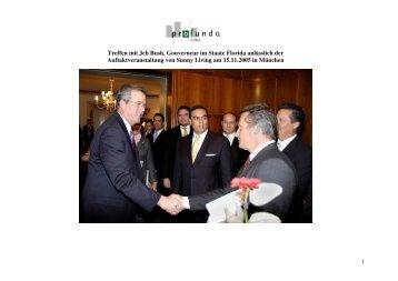 Treffen mit Jeb Bush, Gouverneur im Staate ... - Profundo GmbH