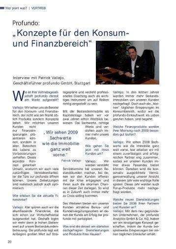 profundo Interview Wer plant was 2009 - Profundo GmbH