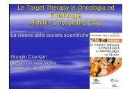 la visione delle società scientifiche. Relatore: Dr ... - Oncologia Rimini