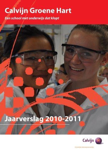 Jaarverslag 2010-2011 Calvijn Groene Hart - CSG Calvijn