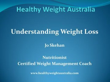 Healthy Weight Australia - Healthy Living Consultants