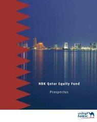 NBK Qatar Equity Fund Prospectus - National Bank of Kuwait