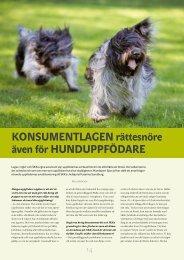 Konsumentlagen - Hundsport Special nr 3-2010