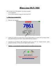 Mise à Jour Wi-Fi 786X - Sefram