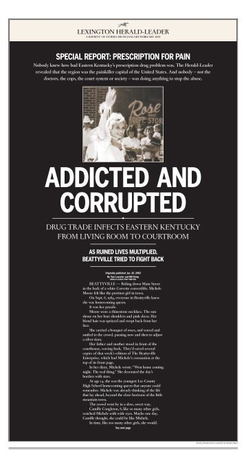ADDICTED AND CORRUPTED - Kentucky.com