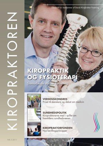 KIROPRAKTIK OG FYSIOTERAPI: - Dansk Kiropraktor Forening