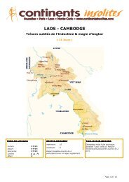 LAOS - CAMBODGE - Continents Insolites