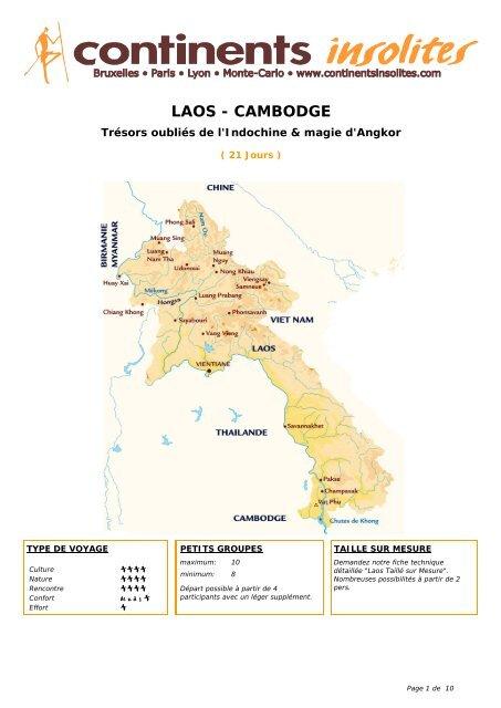 LAOS - CAMBODGE - Continents Insolites