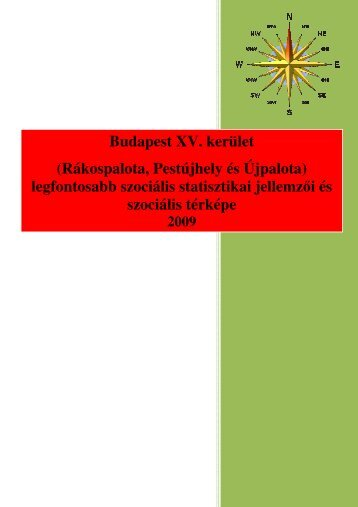 legfontosabb szociális statisztikai jellemzői és szociális - XV. kerület
