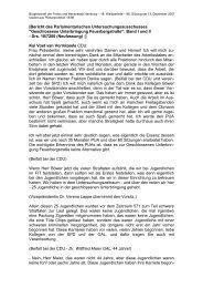 [Bericht des Parlamentarischen ... - Politikschmiede