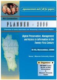 PLANNER - 2006 - INFLIBNET Centre