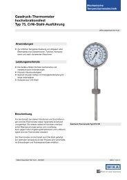 Gasdruck-Thermometer hochvibrationsfest Typ 75, CrNi-Stahl ...