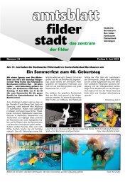 Ein Sommerfest zum 40. Geburtstag - Stadt Filderstadt