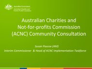 Australian Charities and Not-for-profits ... - ACNC taskforce