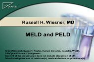 MELD and PELD - AASLD