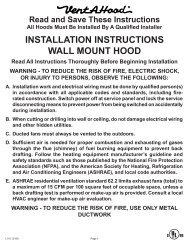 wall mount range hood installation instructions - US Appliance