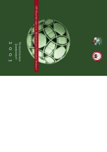 Jahresheft 2003 - SV Oldies