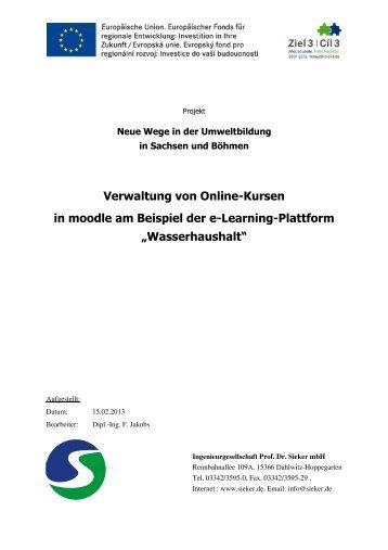 Schulungsmaterial Online-Kurs - E-Learning-Plattform