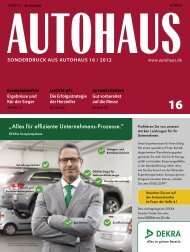 sonderdruck aus autohaus 16 / 2012 - Global Office