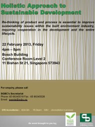 SGBC & SIBL joint seminar - Singapore Institute of Building Limited