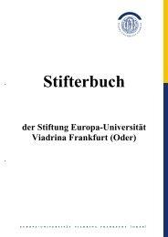 Stifterbuch - Europa-Universität Viadrina Frankfurt