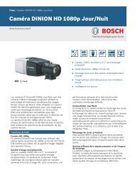 Caméra DINION HD 1080p Jour/Nuit - Bosch Security Systems