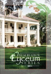 Lyceum Program Winter 2011 Huntsville - Alabama Trust for Historic ...