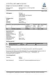 GUTACHTEN zur ABE Nr. 45527 nach §22 StVZO Anlage 11 zum ...