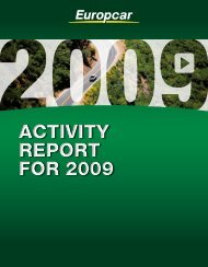 ACTIVITY REPORT fOR 2009 ACTIVITY REPORT fOR ... - Europcar