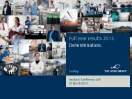 Download Analyst Presentation FY 2012 Results - The Linde Group