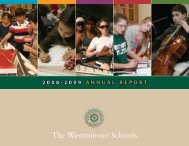 Teaching for Tomorrow - The Westminster Schools