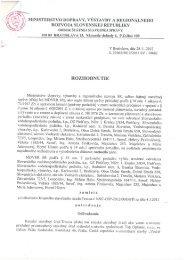 MINISTERSTVO DOPRAVY, VÝSTAVBY A ... - Trakovice