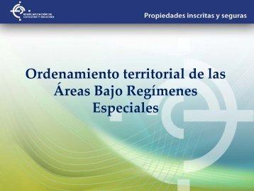 Ordenamiento de las Tierras en Áreas Bajo Regímenes Especiales