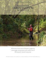 2012 Annual Report Minnesota Conservation Volunteer magazine ...