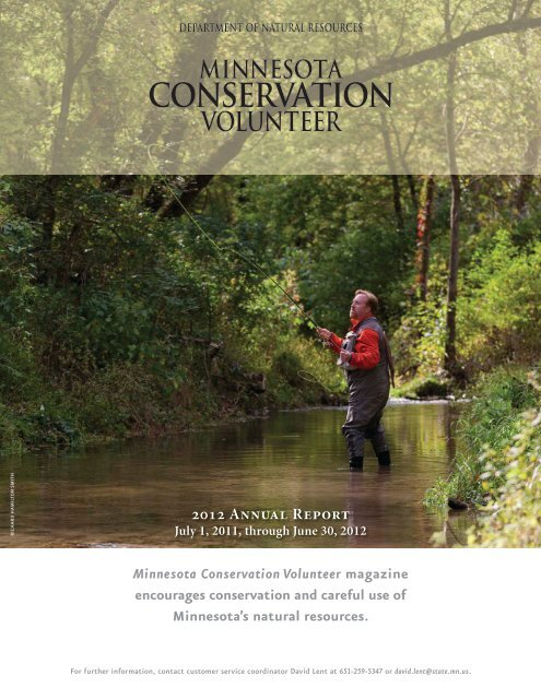 2012 Annual Report Minnesota Conservation Volunteer Magazine