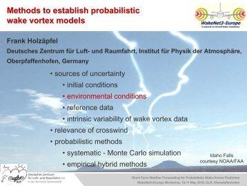 Methods to establish probabilistic wake vortex models - WakeNet