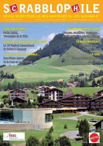 Juillet/Août 2009 - Fédération Suisse de Scrabble