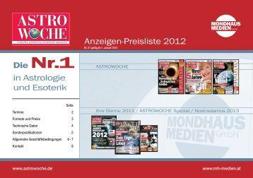 Zu den Mediadaten 2012 - Wunderweib