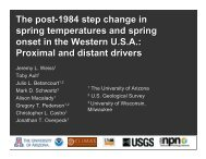 Proximal and distant drivers - University of Arizona