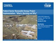 Federal Sector Renewable Energy Project Implementation: