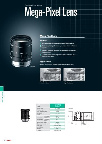 Mega-Pixel Lens