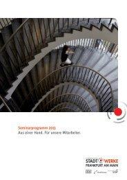 Weiterbildungsprogramm 2013 - Stadtwerke Frankfurt am Main