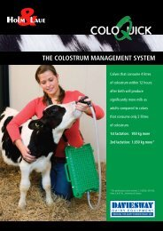The ColosTrum managemenT sysTem - Daviesway Pty Ltd