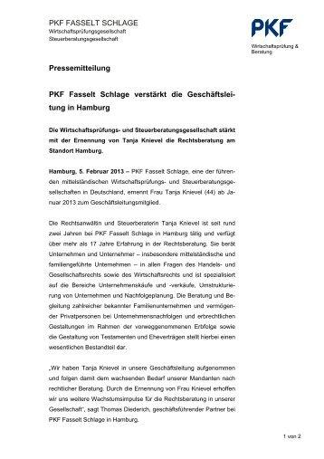tung in Hamburg - PKF