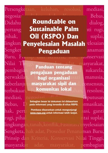 RSPO - Forest Peoples Programme