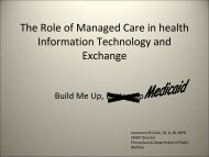 The Role of Managed Care in Health Information ... - Blsmeetings.net