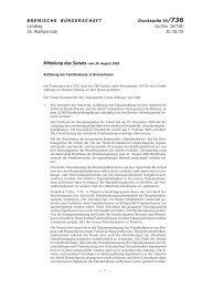 (zu Drs. 16/718) 30. 08. 05 Mitteilung des Senats vom 30. Aug