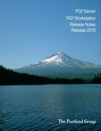 PGI Workstation 2010 for Mac OS X - The Portland Group
